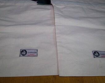 Authentic Lanvin Paris Shoe Bags Set Of 2