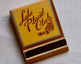 Vintage Matchbook Matches Lake Placid Club Adirondacks Souvenir Historical Lodge