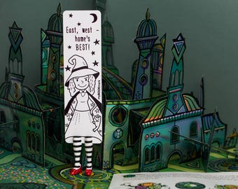 MYBOOKMARK // Wicked Witch babe //  Handmade and crafted with love // Unique and creative gift // Back to school gift //