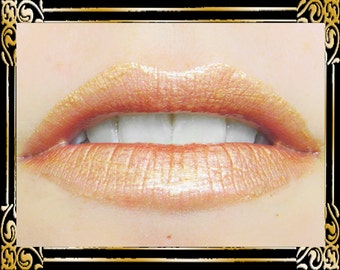 CHALICE Lip Gloss: 10 mL Tube, Nude with Gold Shimmer, Neutral Warm Shimmer Lip Color, Iridescent Lip Gloss, Ships Out in 4-7 Days