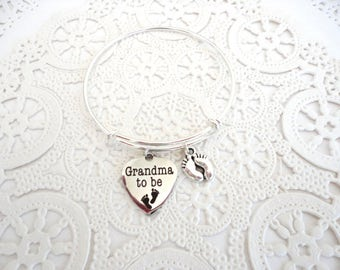 "Grandmother Bracelet, Grandma to Be, Pregnancy Announcement, Grandma Gift, ""You're Going to be a Grandmother"""