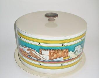 Vintage Enamel Cake Carrier Ballonoff 1979 Pentron Industries Inc. Cake Baking Graphics