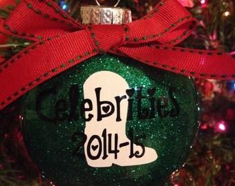 Drill Team Christmas Ornament ~ Dance Team Christmas Ornament ~ Personalized Christmas Ornament ~ Glitter Christmas Ornament ~ Holiday Gift