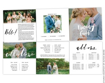 INSTANT DOWNLOAD - 5x5 Pricing Guide Accordion Card Template - e1461