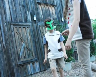 Pacific Chorus Frog Costume - Mask, Vest, Mask & Vest Combo