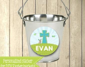 DIY Easter Basket Sticker - Basket not included - Easter Basket - Personalized - Easter Basket Labels