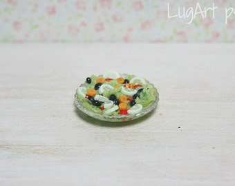 Salad in a dish for dollhouse scale