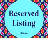 Reserved Listing for Renee