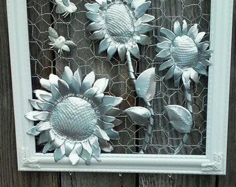 "Up-Cycled Aluminum Soda Can ""Sunflowers"" Wall Art"