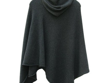 100% cashmere poncho  with a matching snood