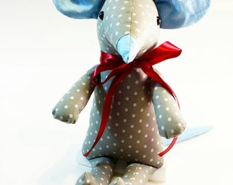 Mouse Plush Dollie 18in Blue
