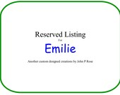 Reserved listing for Emilie for a Custom Walnut Stool