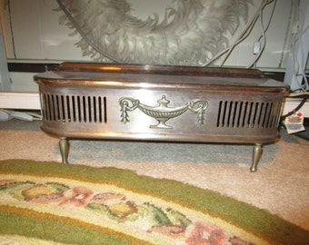 Heavy Metal Antique Stove Fender, Ornate, French, French Country, Eclectic.Victorian, Hollywood Regency,Art Nouveau