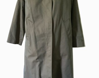 English Paul Stuart Vintage Trench Coat with Removable Wool Loden Lining