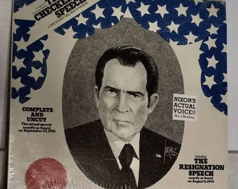 Rare Actual Recording of the Resignation Speech and  'Checkers' Speech by Richard M. Nixon, 1952/1974