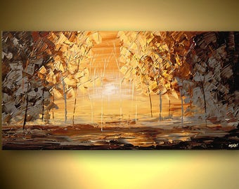 Canvas Print - Stretched, Embellished & Ready-to-Hang  - Sunday Morning - Art by Osnat