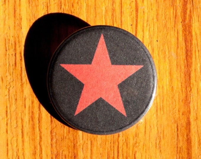 "Red Star - 1.25"" Pinback Button"