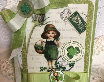 Kiss Me I'm Irish~~~~ St Patrick's Day Colorful ~~~~Green Collage Greeting~~~~~