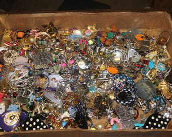Large Lot Earrings for Jewelry Repair Crafts Clip on Vintage Antique Destash 4.6 lbs