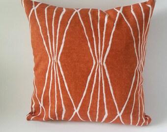 Orange Pillow - Burnt Orange Pillow - Mid Century  Pillow - Modern Pillow - Orange Pillows - Rust Pillows