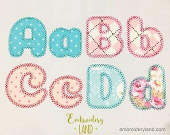 Coupon codes!  Motif Applique Alphabet Font Machine Embroidery Design 4 sizes  AL035
