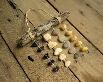 Rock mobile / beach stone mobile / beach stones / coastal mobile