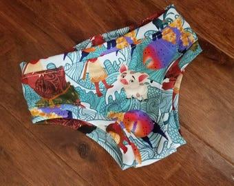 Bubble Bums™ - Moana Girls undies - Hawaiian Princess Underwear - Kids boxerware - Maui undies - Girls panties - Ocean - Disney
