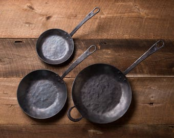 Set of 3 Forged Frying Pans