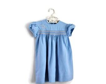 Baby Dress, Vintage Baby Dress, Summer Baby Dress, 1970s Baby Dress, Baby Girl Clothes, Baby Girl Dress