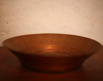 Mid century copper bowl