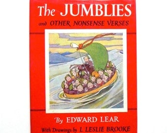 The Jumblies and Other Nonsense Verse by Edward Lear Vintage Book