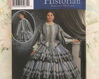 Historical Civil War Steam Punk Victorian Dress Costume Womens Halloween Party Simplicity Sewing Pattern Size HH 6 8 10 12 Uncut FF