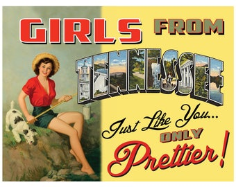 Tennessee Pin Up Girl Print Girls from Tennessee