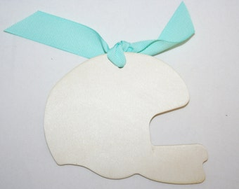 10- Unfinished Wood Football Helmet, Gift Tag, Blank Gift Tags, Sports Lover Gift, Custom Gift Tags, Birthday Gift Tags, Scrapbooking