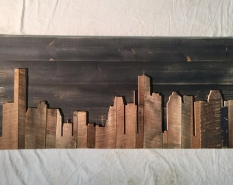 "Hand Crafted Houston 48"" Skyline"