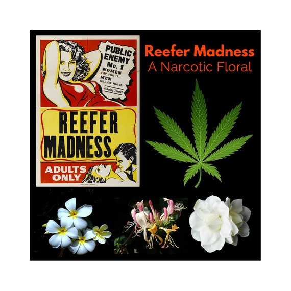 Reefer Madness: A Narcotic Floral Perfume Oil featuring Scents of Cannabis, Gardenia, Honeysuckle, and Jasmine, Heady, Lush, and Seductive!