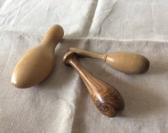 Vintage WOODEN DARNING EGGS