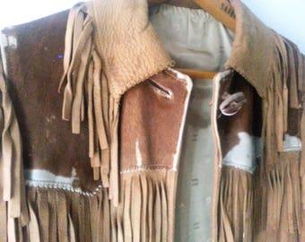 COWGIRL Fringed Leather and Pony Jacket