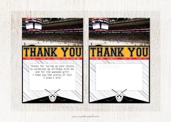 Hockey thank you card hockey printable sports thank you diy il570xn solutioingenieria Choice Image
