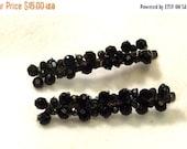 Sale, Beaded Bobby Pins - Beaded Hair Pins - Black Bead Hair Accessory - Jewel Hair Picks - Hair Jewelry For Her
