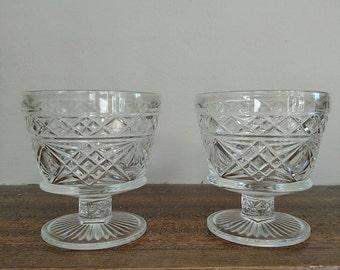 Set of seven glasses