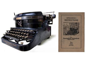 The Remington Noiseless Typewriter No.5 Standard Instruction Manual Instant Download