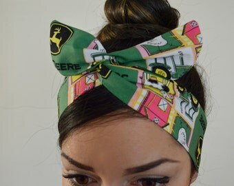 John Deere bow, headband, Dolly bow head bands, head band, hair bow
