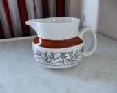 Vintage Swedish Sauce pitcher - Pergola - Upsala Ekeby Gefle - Hand painted decor