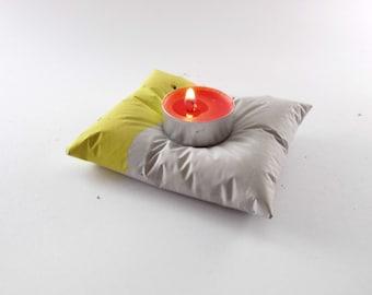 Concrete candle holder, beton pillow tealight holder,  concrete pillow holder, rings holder, concrete home decor