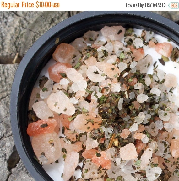 20% Off Foot Soak, Exotic Peppermint, Himalayan Salt, 8oz, Pink, Lemongrass, Ginger, Spice All Natural