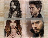 Stone Jared Leto Coaster set - 30 Seconds To Mars Actor Singer