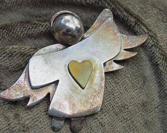 925 Silver Angel Brooch