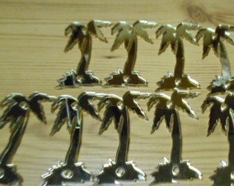 palm trees, laser cut, trees embellishment ,trees,  cupcake toppers TINY TREES,tropical trees