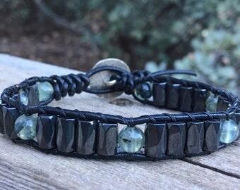 Masculine & Healing leather bracelet